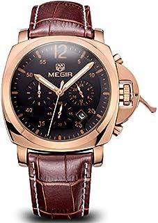 Megir for Men - Analog Leather Band Watch