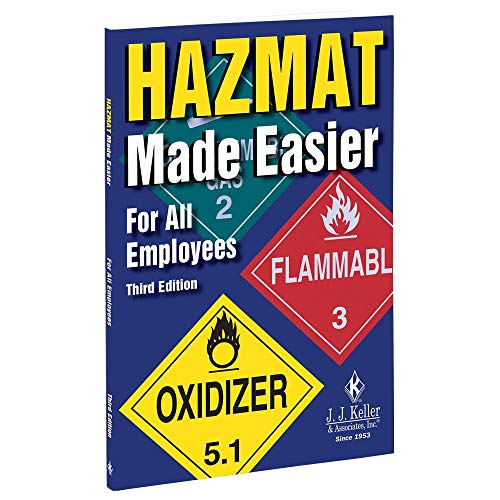 Hazmat Made Easier for All Employees Handbook, Third Edition (5.25' W x 8.25' H, English, Softbound) - J. J. Keller & Associates - Provides Overview of Hazardous Materials Awareness and Operations
