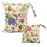 Wetbag - Pañales de tela, 2 unidades, bolsa para pañales para viajes, bolsa para pañales, reutilizable, bolsa para la nariz, pañal de tela, impermeable, lavables, bolsa organizadora para niños