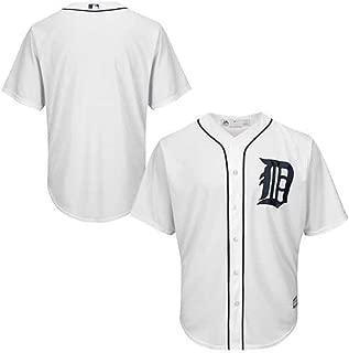 VF Detroit Tigers MLB Mens Majestic Cool Base Alternate Replica Jersey White Big & Tall Sizes