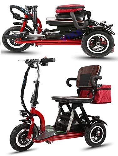 CYGGL Mini Faltbares Elektrisches Dreirad Für Ältere Menschen Und Behinderte, Motor 350 W - Körpergewicht 26 Kg - Belastung 120 Kg - Maximale Kilometerleistung 35 Km - Straßenzulassung