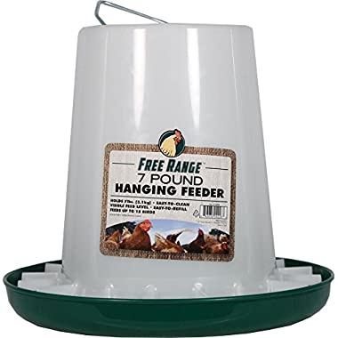 Harris Farms Plastic Hanging Poultry Feeder, 7 Pound