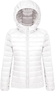 XFentech Women's Hooded Ultra Light Weight Packable Short Down Jacket Outdoor Coat