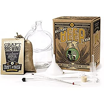 Home Brewing Kit for Beer – Craft A Brew Bone Dry Irish Stout Beer Kit – Reusable Make Your Own Beer Kit – Starter Set 1 Gallon