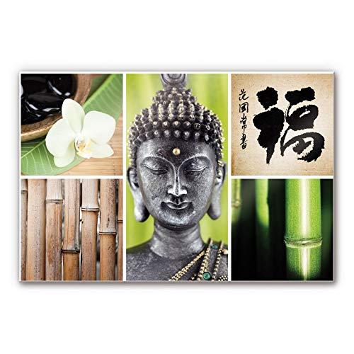 Plexiglas Schilderij Asian Spa | Acrylglas Wanddecoratie Wellness | 60x40 cm (bxh) | Ook Geschikt voor Buiten als Tuinschilderij