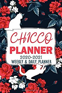 Chicco Planner 2020-2021 Weekly And Daily Planner: Daily Work Task Checklist | Funny Personalised Cat Name Notebook | Cats...