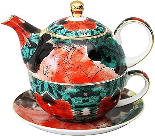 ZQADTU Tetera Juego de té Exquisito Cerámica Té de la Tarde Juego de Taza de Tetera de Estilo Europeo Tetera Exquisita