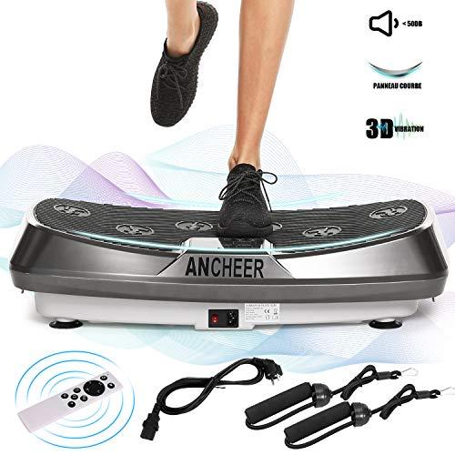 ANCHEER Plateforme Vibrante Oscillante Fitness avec Deux Moteurs | Oscillation, Vibration +...