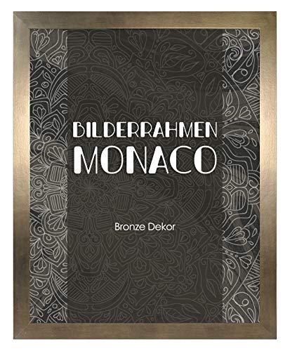 Bilderrahmen Monaco 20x30 cm in Bronze Dekor - Farbe und Größe wählbar