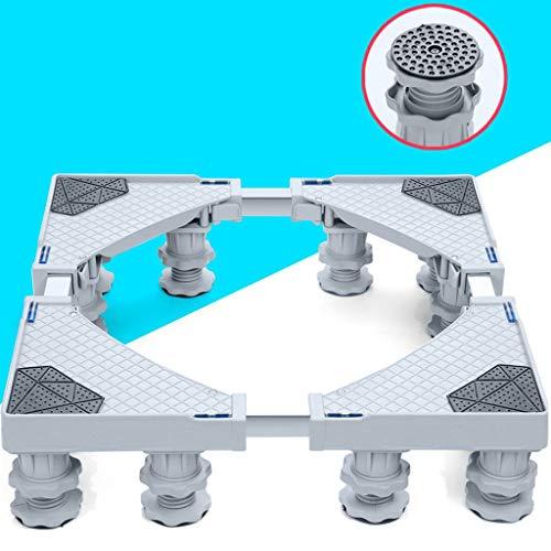 RSWLY Universal rörlig justerbar mobil bas för frys tvättmaskin torkställ, med 12 gummistativ anti-vibration tyst vagn utomhus rullvagn för tvättmaskin stativ bas
