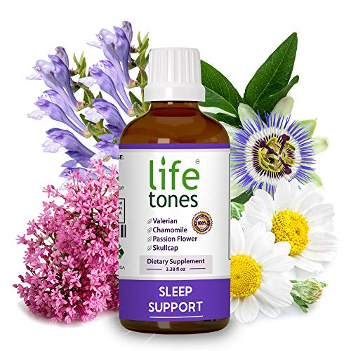 Lifetones Sleep Support - Liquid Sleep Aid w/Valerian Root & Chamomile - All Natural Stress, Anxiety, Insomnia Relief - Non Habit Forming Herbal Supplement - Vegan, Non-GMO, Gluten Free 3.38 fl oz