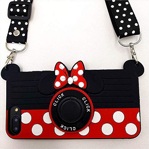 iPhone 8 Case iPhone 7 Case iPhone 6S Case iPhone 6 Case Cute Minnie 3D Camera Rotating Ring product image