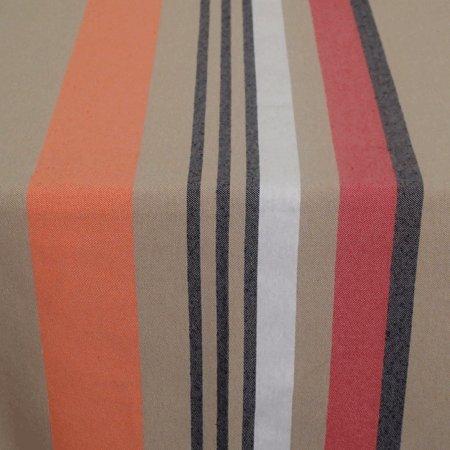 Tissu au métre enduit antitache Biarritz Cote Basque Blanc 140cm