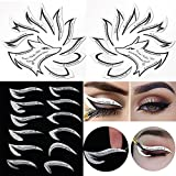 Professional Eyeliner Eyebrow Stencil Eyeshadow Stamp Pads Stencils Patches Stickers Cat Winged Eyeliner Tape for Eye Makeup Artist Supplies Must Haves