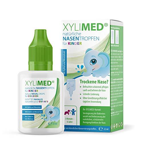 XYLIMED Natürliche Nasentropfen für Kinder | 22 ml Pflegendes Nasenspray Kinder | Ideale Nasendusche Kinder & Nasensauger Baby Alternative
