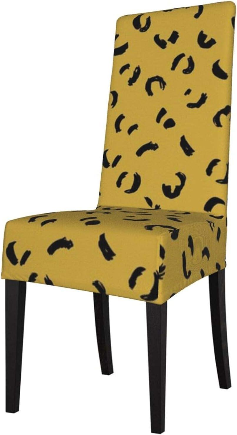 Fundas para sillas Pantera Abstracta Serie de Vida Salvaje Pieles de Animales Piel Ocre Amarillo Otoño Protector de Silla Funda de Asiento para sillas