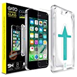 iATO iPhone SE 2016 / 5s / 5 / 5c Screen Protector. Shatterproof & Scratchproof Tempered Glass Screen for Phone Drop Screen Protection with Easy Installation Kit for 4' iPhone SE/5/5s/5c {Pack of 1}