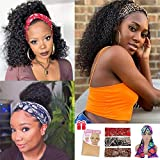 Ali Pearl Headband Wig, Curly Headband Wigs for Black Women Human Hair Kinky Curly Non Lace Front Wigs with Headbands...