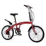 Extérieur Vélo Pliable pour Les Adultes,7 Vitesses Léger Vélo De Ville Pliant,Portable Unisexe Vélos avec Frein V,Urban Commuter A 18h