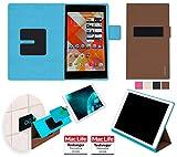 Hülle für Medion Lifetab S8312 Tasche Cover Case Bumper | in Braun | Testsieger