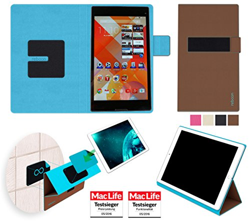 Hülle für Medion Lifetab S8312 Tasche Cover Hülle Bumper | in Braun | Testsieger