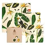 SuperBee Wax Wraps, Envoltorios de Cera de Abeja | Set de 3 Tamaños: Pequeño, Mediano y Grande. Reutilizable, Eco Friendly, Zero Waste