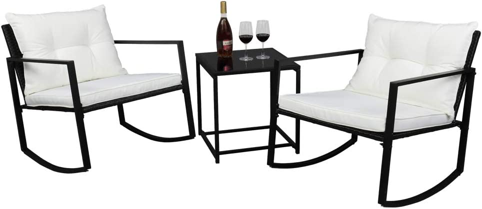 Single 2pcs Coffee Table 1pc Discount is also underway Three-Piece Exposed Chair Mail order Rocking S