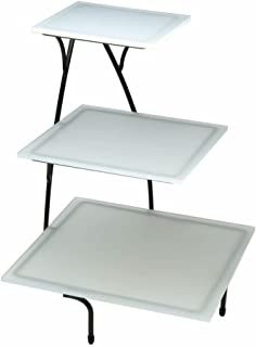 Tied Buffet Stand Flint Metal Serving Stand 3 Tiers - 15