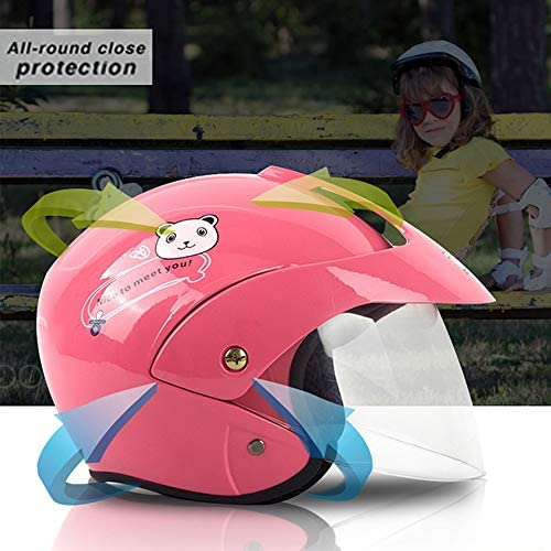 ZJRA Jugend Motorradhelme,Kinder Fahrrad-Motorrad-Sturzhelm,Jungen Und M/ädchen Scooter ATV Collision Avoidance Vollhelm,DOT//ECE-Zertifizierung,Geeignet F/ür Vier Jahreszeiten,1,S