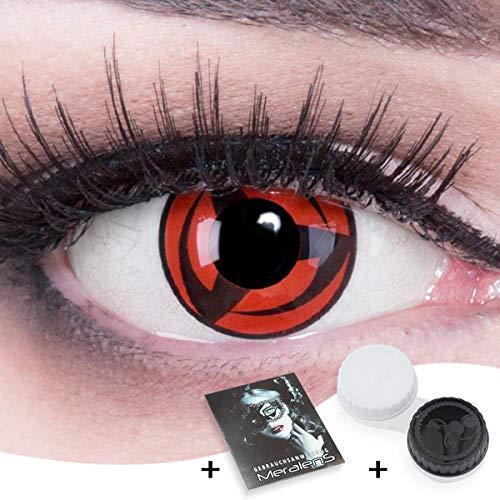 Funnylens Sharingan Kontaktlinsen Kakashi farbige rote Cosplay Mangekyu 12 Monatslinsen 1 Paar mit gratis Kontaktlinsenbehälter ohne Stärke!
