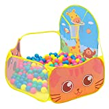Enfants Piscine à Boules, Ocean Ball Piscine Tent de Jeu Portable Intérieur Extérieur avec Panier de Basket pour Bébé Enfants Tout-Petit