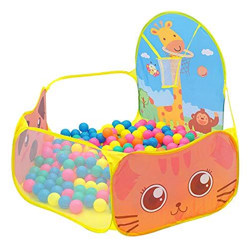 Niños Ocean Ball Pool Piscina, Piscina con Bolas Coloridas Ocean Ball Carpa Portátil de Interior Al Aire Libre para Bebés Niños Pequeños