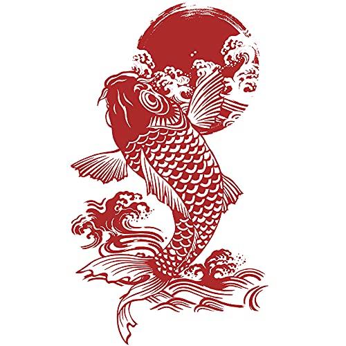 XIAMU Etiqueta engomada de la Buena Suerte de la Historieta de Koi Pegatinas de Equipaje Caja de Pesca de la Pared del refrigerador Entero Grande Pegatinas Decorativas a Prueba de Agua