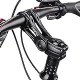 Buding Ahead - Potencia ajustable para bicicleta de montaña (85 grados, aleación de aluminio, 90 mm)