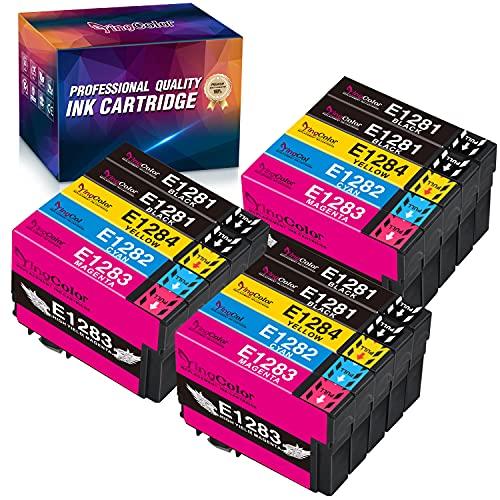 YINGCOLOR T1285 Cartuchos de tinta de repuesto para Epson T1281 T1282 T1283 T1284 T1285 compatible con Epson Stylus BX305F BX305FW BX305FW Plus SX235W SX130 SX440W S22 SX125 SX230 SX420W SX425W SX445W