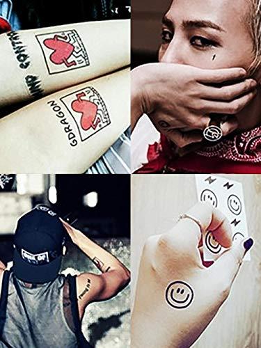 Adesivo per tatuaggi Adesivo per tatuaggio impermeabile a lunga durata di smiley Adesivo corona croce