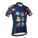 Maillot de ciclismo de manga corta para niños -  Rojo -  XXL(Height 140-149cm)