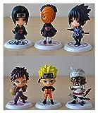 DONGMAISM Figuras de acción 6 unids/Lote 7 cm Japón Salto Comics Naruto Action Figuras Kakashi Sakura Sasuke Itachi Obito Gaara PVC Juguetes Modelo Estatuilla Modelo de muñeca (Color : 6PCS AS Photo)