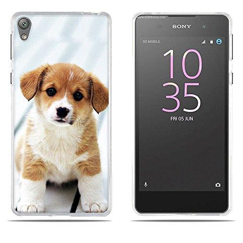 Fubaoda Sony Xperia E5 Hülle,[Chiwan Welpe] Künstlerische Malerei-Reihe 3D Weich Ultra Slim TPU Case Schutzhülle Silikon Case für Sony Xperia E5