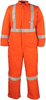 Workwear Men's 838CRT Premium Twill Insulated Quilt Lined Hi-Vis Reflective Coverall