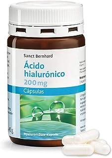 Ácido hialurónico 300 MG obtenido por fermentación Natural con Vitamina C - 120 Cápsulas para 4 Meses