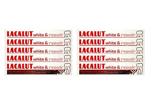 10x LACALUT white & repair Zahncreme 75 ml PZN: 04387912 Spezialzahncreme Zahnpasta