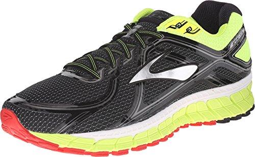 Brooks Adrenaline GTS 16 M, Zapatillas de Running Hombre, Black/Nightlife/High Risk Red, 45