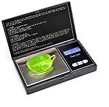 Mini báscula de bolsillo digital portátil Precisión 0 01g Equilibrio de peso electrónico Pesaje de joyería Escalas parciales 200g 0.01g