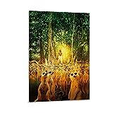 CHENJIN Filmposter Life of Pi Poster, dekoratives Gemälde,