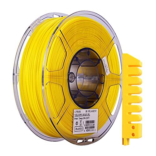 eSUN Flexible TPE Filament 1.75mm, 3D Printer Filament TPE-83A, Dimensional Accuracy +/- 0.05mm, 1KG (2.2 LBS) Spool 3D Printing Filament for 3D Printers, Yellow