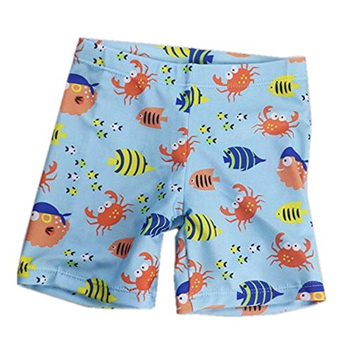 SEENFAAN スイムウェアキッズ 子供用水着 男の子 水着 1−9歳 スイムキャップ ボーイズスクール 競泳水着 魚パンツL