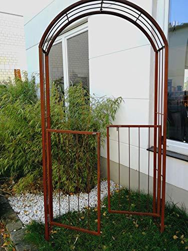 Zen Man Edelrost Rosenbogen Metall Rost Rosenbogen Rankhilfe Spalier Rost Rosenranke 110 * 30 * 220cm 031934 *
