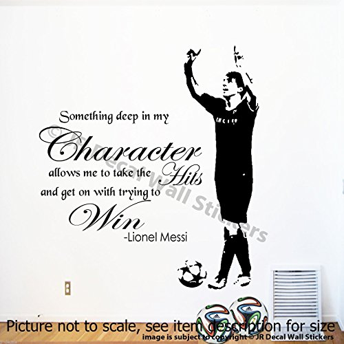 Huge Lionel Messi Wall Quote Wall Art Sticker Barcelona FC Player Mural Vinyl Decal removable vinyl decal Wall Graphics D2