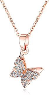 rose gold butterfly jewelry